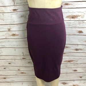 Torrid Ponte Pencil Skirt Plus Size Purple